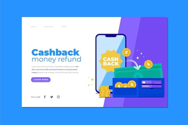 Cashback concept - landing page