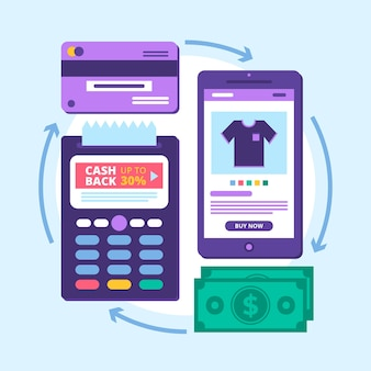 Cashback concept phone app