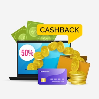 Cashback concept with discount
