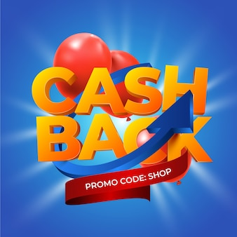 Cashback concept with promo code