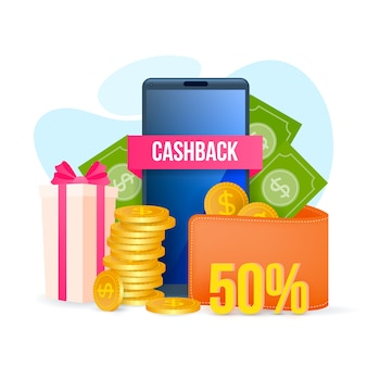 Cashback concept with reduction