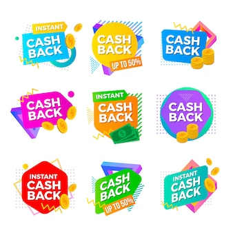 Шаблон коллекции cashback label