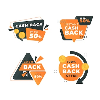 Концепция коллекции этикеток cashback