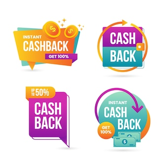 Cashback labels collection