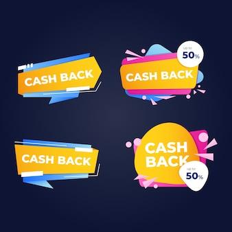 Set di etichette di cashback