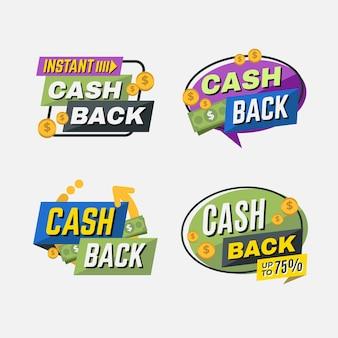 Contrassegni di raccolta di offerta di cashback