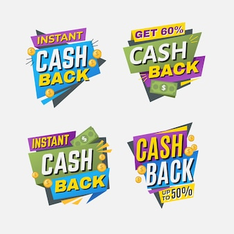 Пакет этикеток с предложением cashback