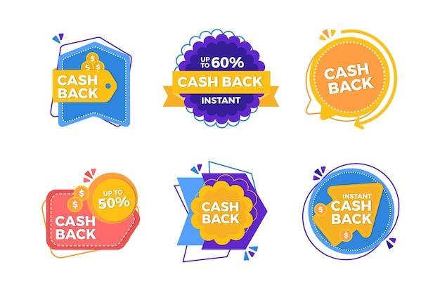 Коллекция этикеток cashback