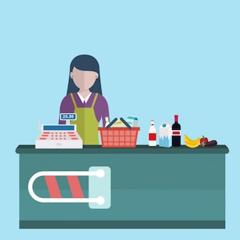 Cashier background design