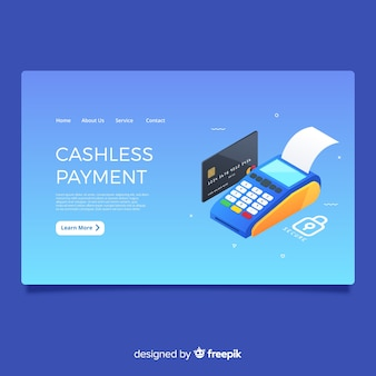Cashless payment landing page