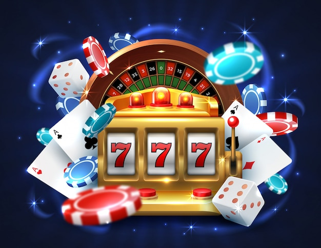 Casino 777 slot machine. gambling roulette big lucky prize