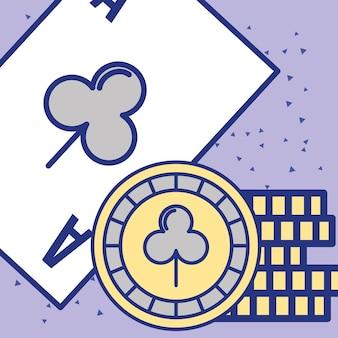 カジノエースカードチップ占いゲームイメージ