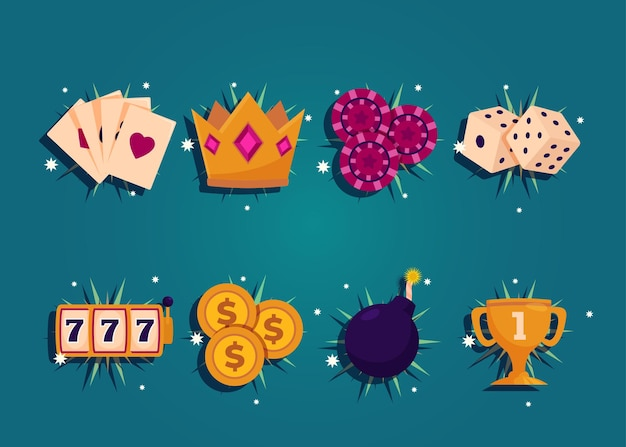 카지노와 도박 개념
