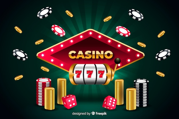 Casino background in realistic style