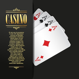 Casino background vector illustration