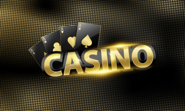 Casino background with beautiful coins