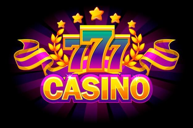 Casino banner on purple background.