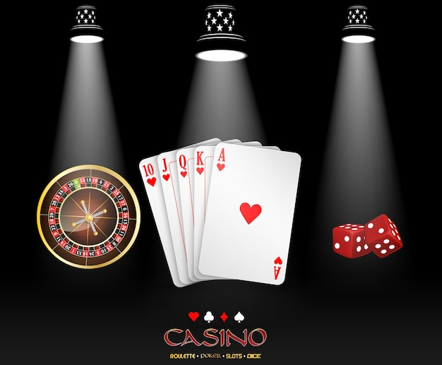 Casino banner with spotlight casino design