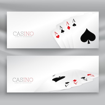 Casino banners with four aces