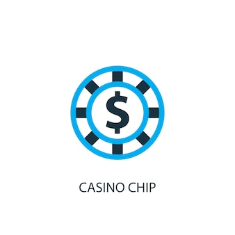 Casino chip icon. logo element illustration. casino chip symbol design from 2 colored collection. simple casino chip concept. can be used in web and mobile.