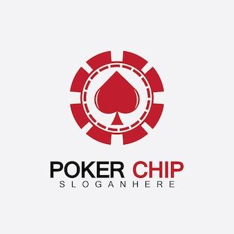 カジノチップアイコン、ポーカーチップベクトルアイコンのロゴ、ポーカーまたはルーレットのカジノチップ。白い背景で隔離のベクトル図。
