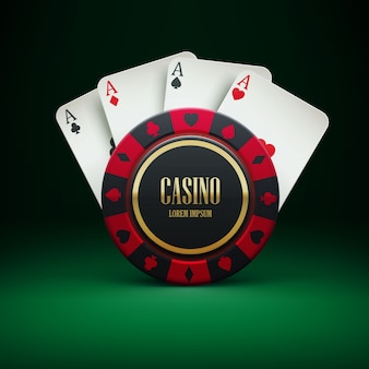 Casino chip with place for textrealistic theme