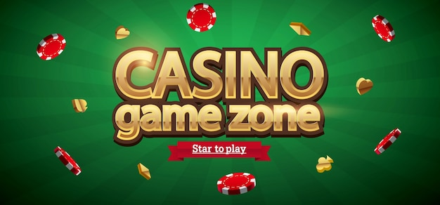 Casino chips realistic theme with place for text