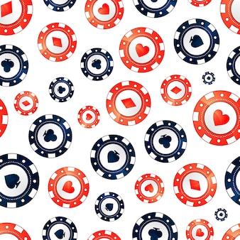 Casino chips, seamless pattern