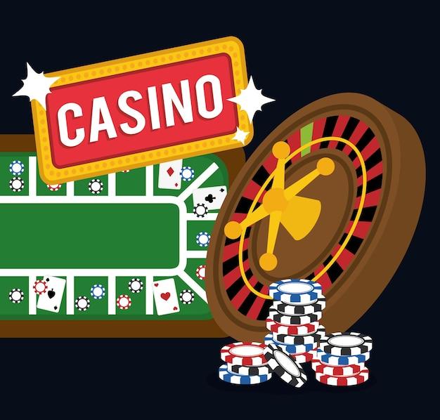 Casino concept with las vegas item icon design