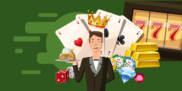 Casino croupier horizontal background