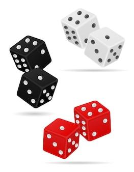 Casino dice isolated on white background