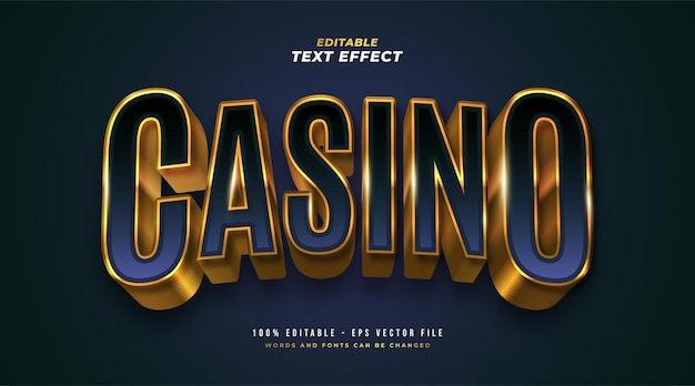 Casino editable text style effect