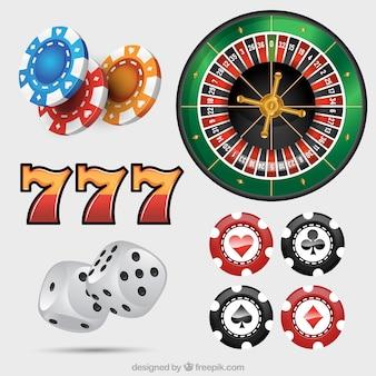 Коллекция элементов казино