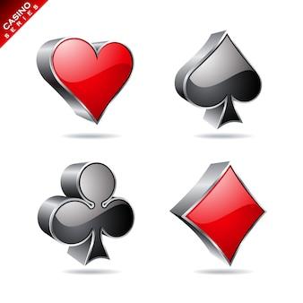 カジノの要素の設計 無料ベクター