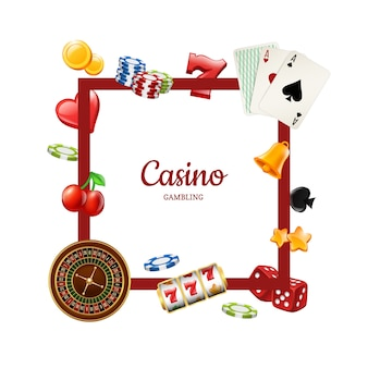 Casino elements frame template