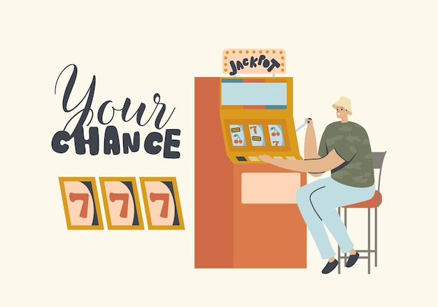 Casino, financial freedom, game of chance illustration