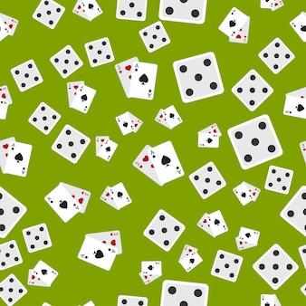 カジノフラットアイコンシームレスパターン