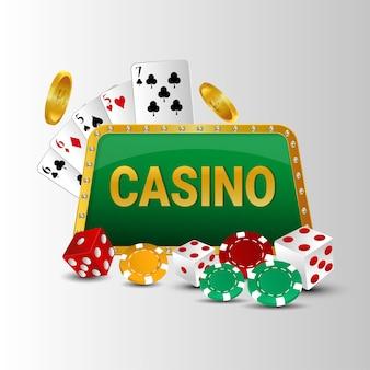 ルーレット付きカジノギャンブルゲーム