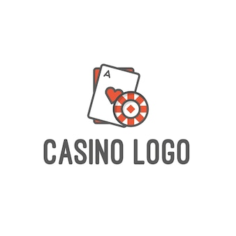Casino and gambling logo isolated in white background