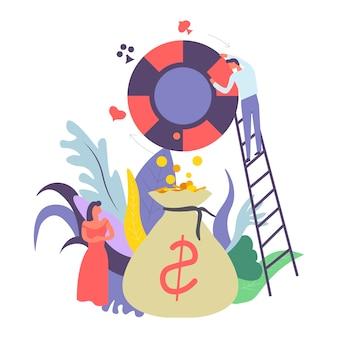 Casino gambling and money cash in bag