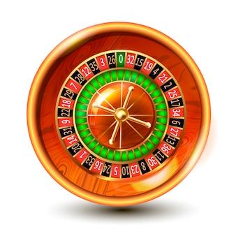 Casino gambling roulette wheel.