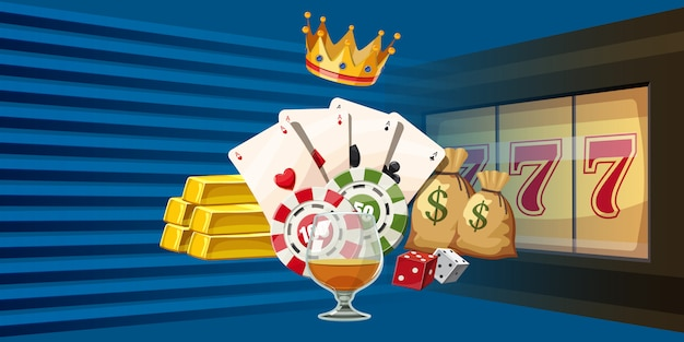 Casino games horizontal background
