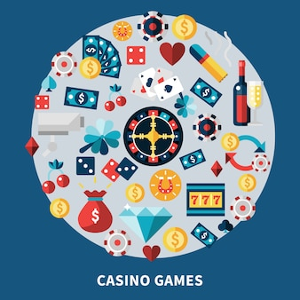 Casino games round composition