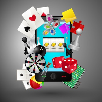 Casino games on smartphone
