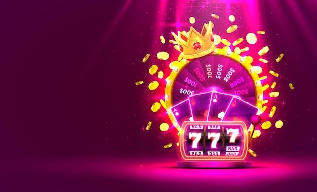 Casino golden colorful fortune wheel illustration