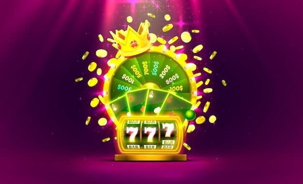 Казино золотое красочное колесо фортуны, игровой автомат neon, игральные карты выигрывает джекпот