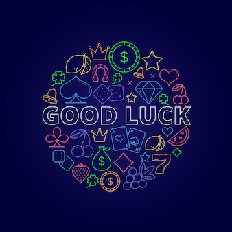 Casino good luck illustration