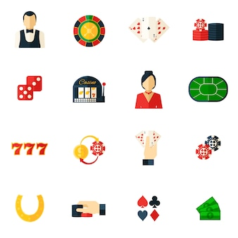 Casino icon flat