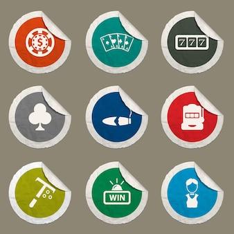 웹 사이트 및 사용자 인터페이스에 대해 설정된 카지노 아이콘