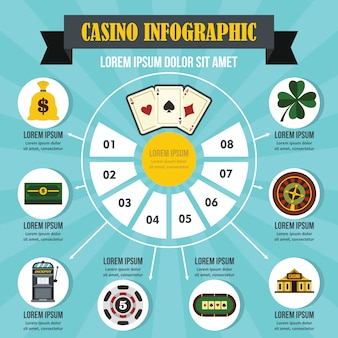 Casino infographic concept.